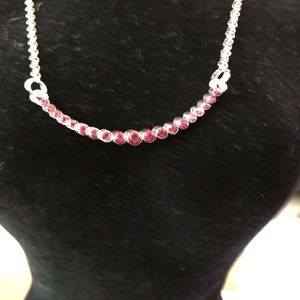 Paparazzi Faux Silver/Red Necklace/Earrings NWT